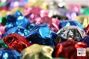 Promotional Mixed Colors Foiled Stars in 1kg Bag