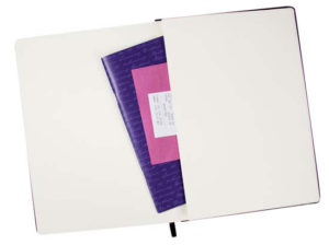 Personalised A6 City notebook with elastic