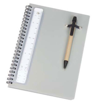 Promotional A5 Notebook with Pen and Scale Ruler