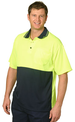 Branded Hi Vis Cooldry Micro-Mesh Short Sleeve Safety Polo